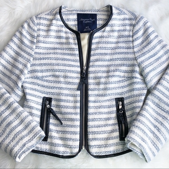 American Eagle Outfitters Jackets & Blazers - American Eagle • Tweed Zip Up Blazer